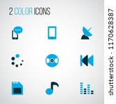 music icons colored set with... | Shutterstock .eps vector #1170628387