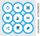 multimedia icons colored set...   Shutterstock .eps vector #1170628621