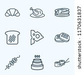 eating icons line style set... | Shutterstock .eps vector #1170631837