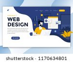 landing page template of web... | Shutterstock .eps vector #1170634801
