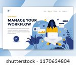 landing page template of manage ... | Shutterstock .eps vector #1170634804