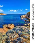 beautiful landscape on rocky...   Shutterstock . vector #1170638341