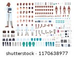 african american male doctor or ... | Shutterstock .eps vector #1170638977