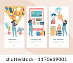 bundle of vertical web banner... | Shutterstock .eps vector #1170639001