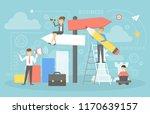 people choosing business... | Shutterstock .eps vector #1170639157