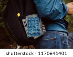 tourist with a backpack took... | Shutterstock . vector #1170641401