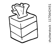 black and white cartoon tissue... | Shutterstock .eps vector #1170642451