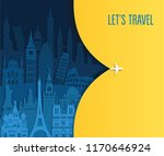 travel and tourism background.... | Shutterstock .eps vector #1170646924