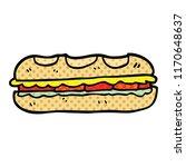 comic book style cartoon tasty... | Shutterstock .eps vector #1170648637