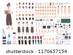 female school teacher creation... | Shutterstock .eps vector #1170657154