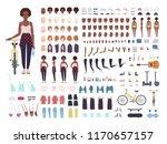 african american teenage girl...   Shutterstock .eps vector #1170657157
