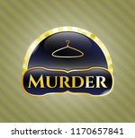 shiny badge with hanger icon... | Shutterstock .eps vector #1170657841