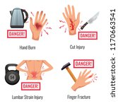 human body parts injury warning ... | Shutterstock .eps vector #1170663541