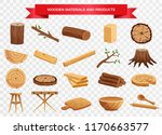 wood material and manufactured... | Shutterstock .eps vector #1170663577