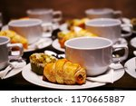 bakery and beverage on white... | Shutterstock . vector #1170665887