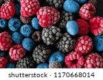 frozen delicious berries ...   Shutterstock . vector #1170668014