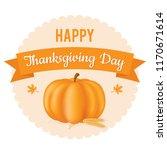 thanksgiving day. vector... | Shutterstock .eps vector #1170671614