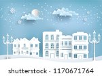 views of the house in winter.... | Shutterstock .eps vector #1170671764
