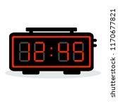 led digital alarm clock. vector ... | Shutterstock .eps vector #1170677821