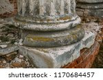 base of ancient antique column...   Shutterstock . vector #1170684457