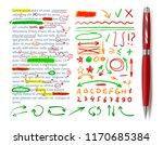 vector text correction elements ... | Shutterstock .eps vector #1170685384