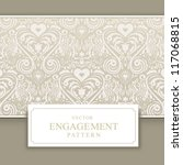 wedding invitation card with... | Shutterstock .eps vector #117068815