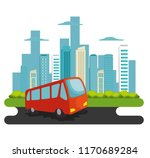 bus transport public icon | Shutterstock .eps vector #1170689284