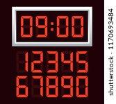 digital clock  number set....   Shutterstock .eps vector #1170693484