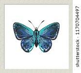 digital watercolor small blue... | Shutterstock .eps vector #1170704497