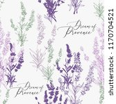 seamless pattern with lavender...   Shutterstock .eps vector #1170704521