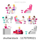 template for beauty saloon... | Shutterstock .eps vector #1170709021