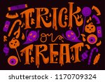 halloween vector illustration.... | Shutterstock .eps vector #1170709324