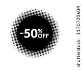 50  off sticker  label   | Shutterstock .eps vector #1170720604