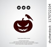 pumpkin icon halloween simple... | Shutterstock .eps vector #1170722104