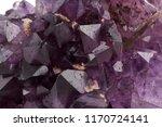 amethyst crystal. macro | Shutterstock . vector #1170724141