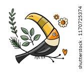 toucan  paradise tropical bird... | Shutterstock .eps vector #1170725374