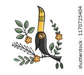 toucan  paradise tropical bird... | Shutterstock .eps vector #1170725404