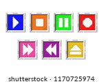 media player related icons. a... | Shutterstock .eps vector #1170725974