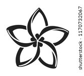 plumeria flower icon. simple... | Shutterstock .eps vector #1170732067