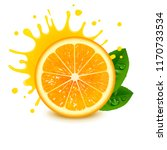 fresh orange with a splash of... | Shutterstock .eps vector #1170733534