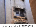 baroque stone window on ancient ... | Shutterstock . vector #1170733591