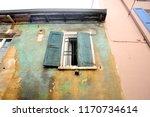 old and damaged uninhabited... | Shutterstock . vector #1170734614
