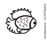 fish icon vector isolated on... | Shutterstock .eps vector #1170736411