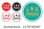 fragile handle with care... | Shutterstock .eps vector #1170740287