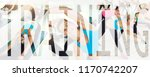 collage of a fit young woman in ... | Shutterstock . vector #1170742207