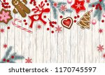 abstract christmas border ... | Shutterstock .eps vector #1170745597