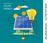 investment in solar energy... | Shutterstock .eps vector #1170747334