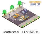 autonomous smart car. vector... | Shutterstock .eps vector #1170750841