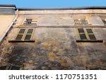 old and damaged uninhabited... | Shutterstock . vector #1170751351