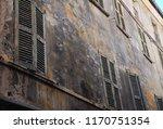 old and damaged uninhabited... | Shutterstock . vector #1170751354